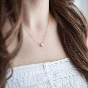 Single Dot Necklace (Gold)